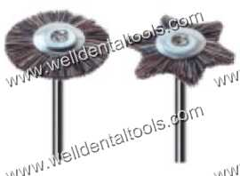 Dental mounted brown hair brushes