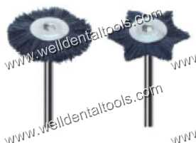 Dental mounted black hair brushes