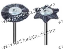 Dental mounted grey goat hair brushes