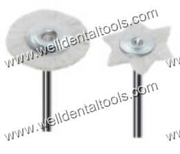 Dental mounted goat hair brushes