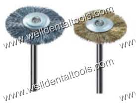 Dental mounted brass and steel wheel